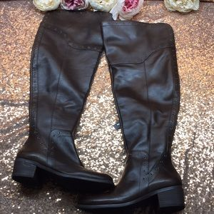 Vince Camuto Brown Over the Knee Boots 7.5M WC